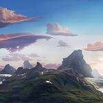 Background Matte Painting, animated movie