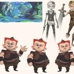 Character Designs from animated film project Silverlock